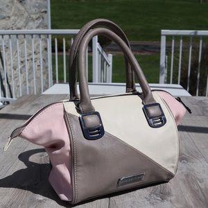 Steve Madden multi color block faux leather purse